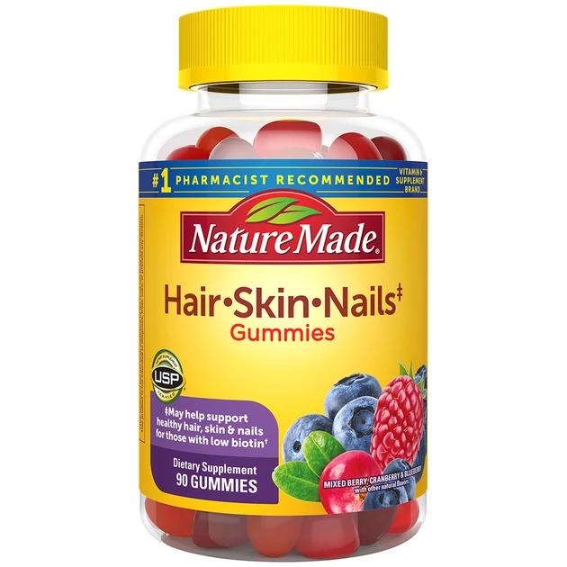 Nautre Made Hair Skin & Nails Gummies