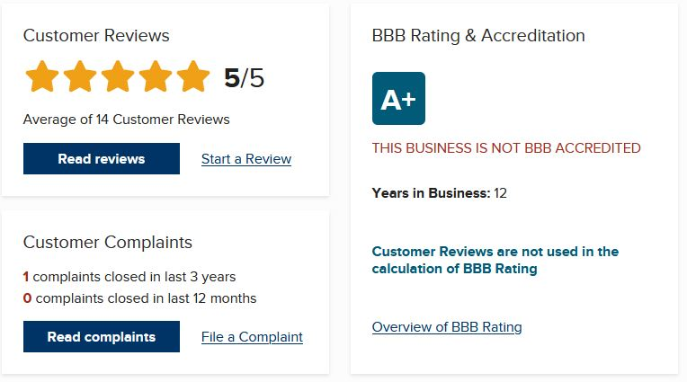 They have a customer complaint listed with the BBB but based on their response seem to have tried to resolve the issue.