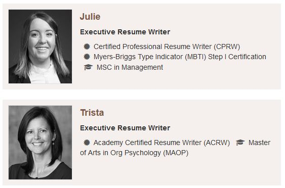Their resume writers have the accreditations and experience you want to see when paying a premium price.