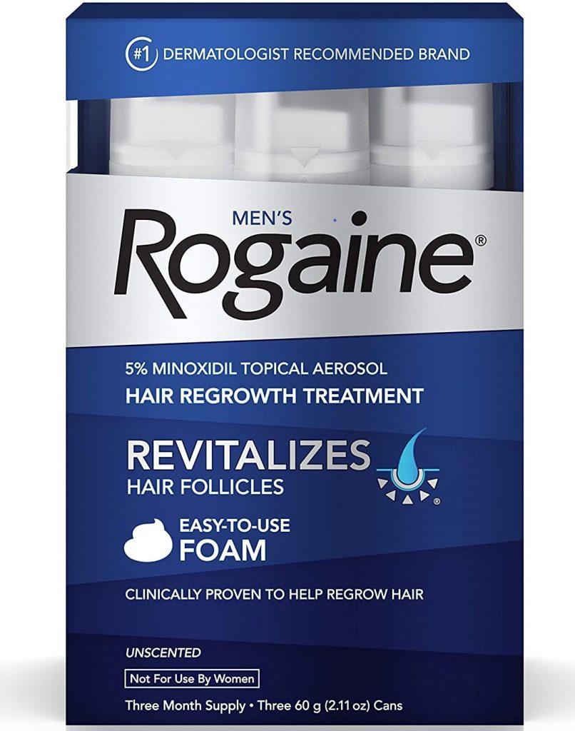 Rogaine Minoxidil 5% Foam package