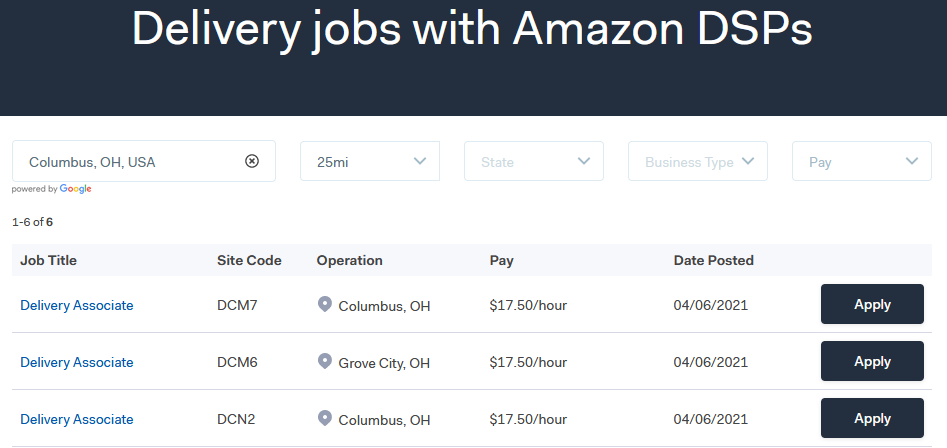 Delivery job results for Amazon DSP's