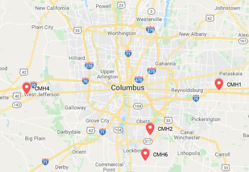 Amazon warehouse locations in Columbus Ohio